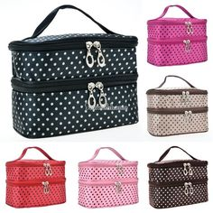 Large Cosmetic Bag Makeup Case Hanging Travel Wash Toiletry Organizer Pouch #Unbranded