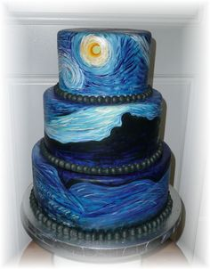 Love this painting - wonderful idea to see it on a cake! <3