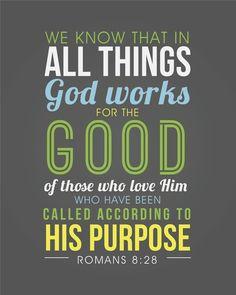 Romans 8:28 Art Print by Celena Masek | Society6