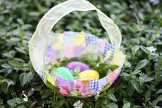 Fabric Collage Easter Baskets - I Can Teach My Child!