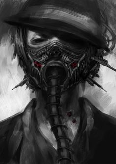 #gas mask #painting