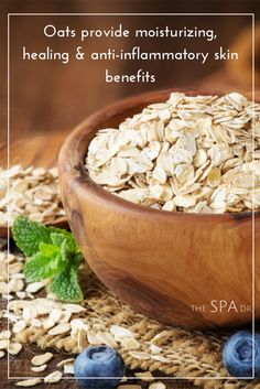 #Oats provide moisturizing, healing & anti-inflammatory #skin benefits