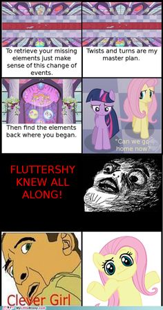 FluttershyKNEW! hahaha All the other ponies should have listened