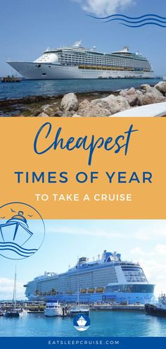 Save the most money on your next trip by booking during the right time of year. We show you the cheapest times of year to go on a cruise so you never overspend! Vacation Meme, Vacation Deals, Cruise Vacation, Family Cruise, Vacations, Vacation Quotes, Vacation Packing, Cruise Travel, Royal Caribbean