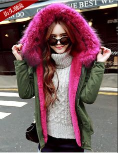 149.90$  Watch now - http://alizl1.worldwells.pw/go.php?t=32770134135 - 2016 New Women Winter Army Green Jacket Coats Thick Parkas Plus Size Real Raccoon Fur Collar Hooded Outwear Brand Style