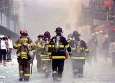 Firemen. Watching them walk bravely to the Twin Towers, not knowing they are walking to their death, still brings me to tears.