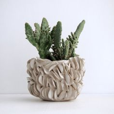 MADE TO ORDER white ceramic organic planter white pottery Organic Ceramics, Ceramic Planters, Pottery Bowls, Stoneware Clay, Handmade Pottery, Ceramic Art, Planer, White Ceramics, Flower Pots