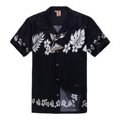 Hawaiian Shirt Aloha Shirt in Navy Floral