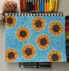 Sharpie Drawings, Pencil Art Drawings, Cool Art Drawings, Art Drawings Sketches, Drawing Ideas, Summer Drawings, Sharpie Doodles, Doodle Art Drawing, Mandala Drawing