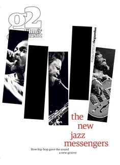 Guardian g2 film&music cover: the new jazz messengers. #editorialdesign #newspaperdesign #graphicdesign #design #theguardian
