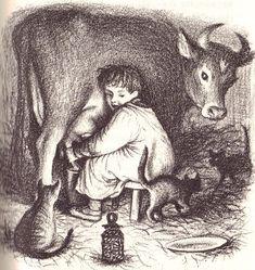 garth williams :: little farmer boy, laura ingalls wilder