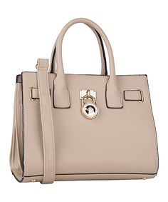 Look at this MKF Collection Beige Accordion Satchel on #zulily today!