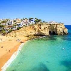 Algarve, Portugal Beach Cities where you can live dirt cheap. Most Beautiful Beaches, World's Most Beautiful, Best Places To Retire, Places To Visit, Holiday Destinations, Vacation Destinations, Vacation Ideas, Portugal Strand, Coastal Country