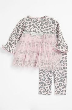 Sweet Heart Rose Leopard Print Tunic & Leggings (Infant) available at @Nordstrom #pinparty