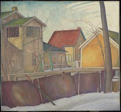 Pritchard& Fence, c. 1928 Lionel LeMoine FitzGerald (Canadian) Painting, oil on canvas Bequest of Isabel E. Winnipeg Art Gallery, Art Gallery Of Ontario, Name Paintings, Tom Thomson, Group Of Seven, Canada Images, Winter Images, Fence Art, Modern Artists
