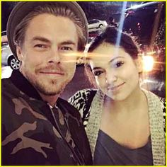 Bethany Mota & Derek Hough Run Into Each Other While Out Christmas Shopping