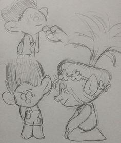 Branch de pequeño y Poppy
