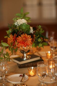 wedding table for 8 antique centerpiece tea reception - Google Search