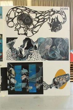 NCEA level three painting - folio board three
