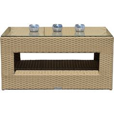 Richmond Natural All Weather Synthetic Outdoor Rattan Garden Coffee Table