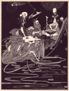 Harry Clarke. Illustrations for Edgar Allan Poe's Tales of Mystery and Imagination. 1919.