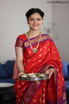 Gudi Padwa - The Indian new year! :) The saree is called paithani!