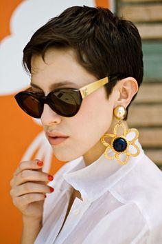 #Another cute pixie cut  Sunglasses sunglasses #fashion #nice  www.2dayslook.com