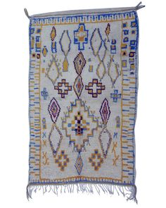 "Gorgeous Azilal Moroccan vintage rug 6'9"" x 4'4"""