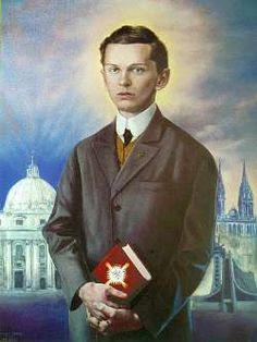 """Blessed Ivan Merz (1896-1928 in Zagreb) was a Bosnian-Croatian lay academic, beatified by Pope John Paul II on a visit at Banja Luka, Bosnia and Herzegovina on June 23, 2003. Ivan Merz promoted the liturgical movement in Croatia and together with Ivo Protulipac created a movement for the young people, """"The Croatian union of the Eagles"""" (""""Hrvatski orlovski savez)"""", inspired by the """"Eucharistic Crusade,"""" which he had encountered in France."""