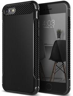 iPhone 7 Case, [Vault Series I] Flexible TPU Slim Body Shield [Matte Black] )USA #Caseology
