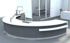 Solid Surface Reception Desk TW-PART-115