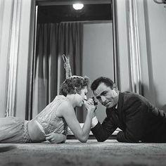 Rod Serling & Carol Burnett on the Twilight Zone set.