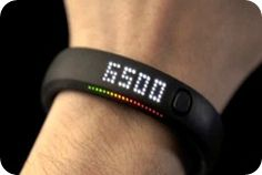 Nike Sports watch tell about the nearest fuel point and the burned calories