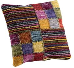 Hokku Designs Khema Wool Throw Pillow Hokku Designs Khema 4 Throw Pillow Color: Brown, Size: H x W. Crochet Cushions, Crochet Pillow, Floral Throw Pillows, Throw Pillow Sets, Pillow Covers, Loom Weaving, Hand Weaving, Knitting Projects, Knitting Patterns