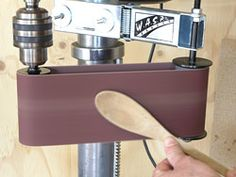 Drill press sander attachment