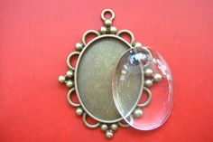 10 sets Photo Pendant DIY Kit 30x40mm Oval Cameo door Hollyshell, $17.95