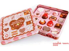 Chocolate Tin - Size 18 x 16 Chocolates Baby Crafts, Diy Crafts For Kids, Strawberry Garden, Strawberry Fields, Picnic Theme, Pretend Food, Rainy Day Crafts, Handmade Wooden Toys, Clay Food