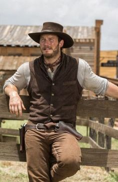 western home decor Chris Pratt and Denzel Washington Are the Action Duo You Never Knew You Needed in The Magnificent Seven Trailer Cowboy Outfits, Western Outfits, Cowboy Costumes, Cowboy Outfit For Men, Western Dresses, Denzel Washington, Chris Pratt, The Magnificent Seven, Cowboy Up