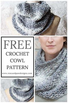 Free Crochet Cowl Pattern using Lion Brand Yarn - Free Shimmering Snow Cowl Pattern by Rescued Paw Designs. Click to Make now or Pin and Save for Later!