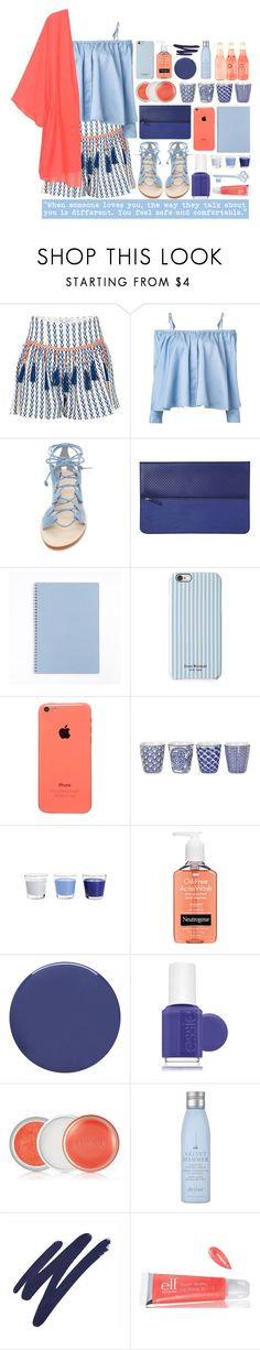 """See and sea"" by valdep ❤ liked on Polyvore featuring Alphamoment, Sandy Liang, Cornetti, Minor History, Isaac Mizrahi, Pols Potten, Neutrogena, Smith & Cult, Essie and Clinique"