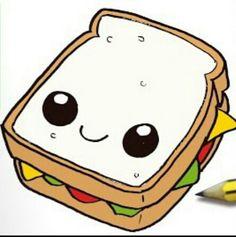 Cute Food Drawings, Cute Little Drawings, Cute Kawaii Drawings, Kawaii Doodles, Colorful Drawings, Cartoon Drawings, Wallpaper Iphone Cute, Cute Wallpapers, Arte Do Kawaii