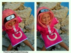 Toddler Sakura Haruno Naruto Cosplay The things I find on the way My 3 years old daughter trying her cosplay for the first time. Still need to adjust a few things and improve on the make up.