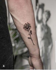 Rose Tattoo Forearm, Small Forearm Tattoos, Wrist Tattoos For Guys, Cool Arm Tattoos, Small Tattoos For Guys, Cool Small Tattoos, Arm Band Tattoo, Body Art Tattoos, Tribal Tattoos