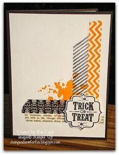 Stamp and Sew For Fun - Halloween Card, Stampin' Up! Washi Tape