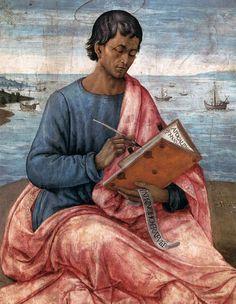 domenico ghirlandaio 1449-1494 | DOMENICO GHIRLANDAIO (1449 - 1494) | St John the Evangelist on the ...