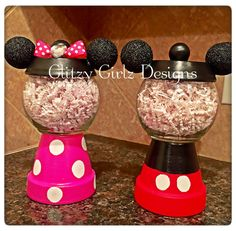 the ultimate list of diy Disney gifts to make for any occasion. Holiday diy Disney gifts for the Disney lover in your life. Clay Pot Projects, Clay Pot Crafts, Jar Crafts, Cute Crafts, Crafts To Make, Disney Home Decor, Disney Crafts, Diy Disney Gifts, Candy Bowl