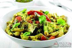 Receita de Legumes assados e penne ao molho pesto - Comida e Receitas