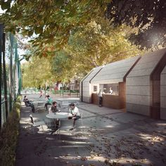 DeRosa Sa Architects, Friends Of Brook Green Pavilion by Forbes Massie, via Behance