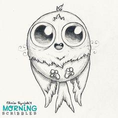 """Fuzz Bird!  #morningscribbles"""