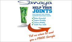 Fill out the form to get your FREE Sanaya Natural Pain Relief Cream Sample. Cream Features: 100% Natural and Organic